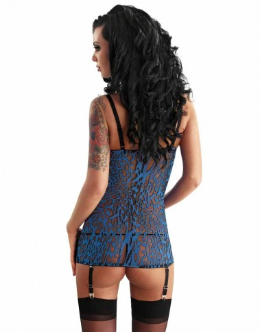 2846  bluette devoré corset back